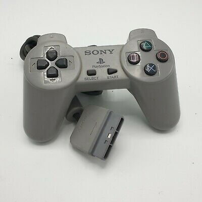 Official Sony Playstation PS1 Grey Gamepad Controller SCPH-1080 Tested (ref1)