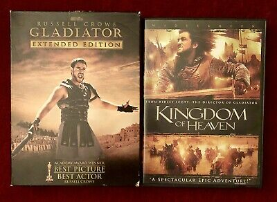 Gladiator 3 Disc Special Edition + Kingdom of Heaven DVD Lot