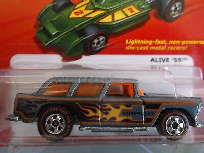 2012 Hot Wheels The Hot Ones Alive '55 Chevrolet In Gray. CHASE CAR