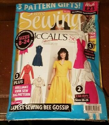 Love Sewing Issue 63 Magazine With 3 Free Sewing Patterns Mccalls
