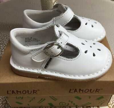7283d8dbde75 L AMOUR TODDLER GIRLS White leather Mary Jane shoes  751 -  36.00 ...
