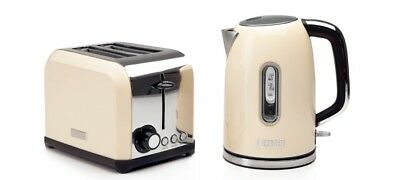 Haden Cream Kettle & Toaster Set with Wide Slots