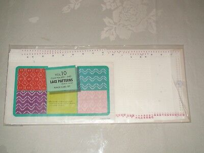 KNITTING MACHINE ACCESSORY'S PUNCH CARDS FOR STANDARD GAUGE MACHINES volume 10