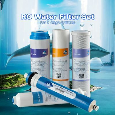 50/75/100/150GPD Reverse Osmosis Membrane Water Filter 5-Stage RO System Element
