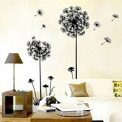 Dandelion Flower Removable Art Decal Vinyl Mural Home Wall Stickers Ornament WL