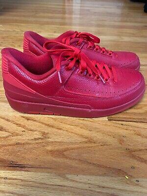 new product 4ab24 95645 AIR JORDAN 2 Retro Low Triple Gym Red size 9.5 832819-606