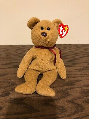 d3219716538 Ty ORIGINAL Beanie Baby CURLY BEAR - MINT Condition RARE Retired Tag Errors
