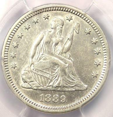 1889 Seated Liberty Quarter 25C - Certified PCGS AU Details - Rare Date Coin!
