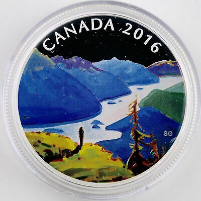 2016 Canada $20 Fine Silver: canadian Landscape: reaching the Top