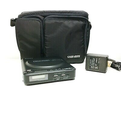SONY Discman Model D-2 Portable CD Player 1988 w/ adapter and carry case EXC!