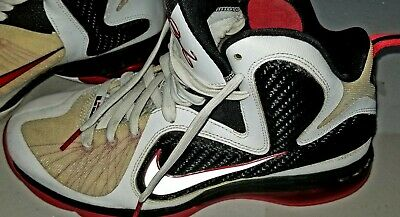 low priced 92e3f 80c98 Nike Lebron 9 Scarface Hightop Shoes, Mens Size 8.5 White, Red, Black 469764