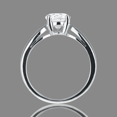 1/3 CT Solitaire Diamond Engagement Ring Enhanced Round Cut F/I1 14K White Gold
