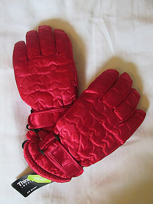 New Girls Thinsulate 40 Gram Water Proof Winter Snow Gloves Red Star Xs S M L Xl