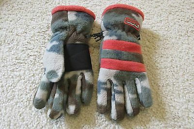 Childrens Place Glaciers Thermolite Youth Size 4-6 Gloves Camo~Orange Camouflage