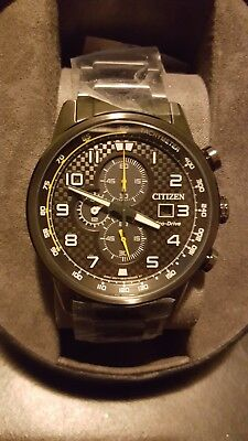 AWESOME $395 NWT Citizen Eco-Drive Men's Primo Chronograph Watch