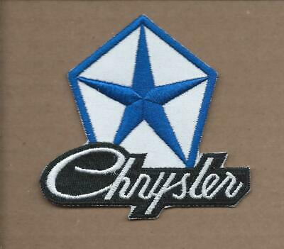 New 3 X 3 1/4 Inch Dodge Chrysler Iron On Patch Free Shipping E1
