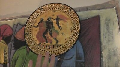 handmade plate rare greek greece ancient style hand painted gods goddess europe