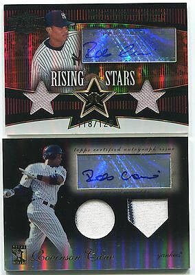2009 ROBINSON CANO Topps Tribute 2X Game-Worn YANKEES Autograph Signature #/50