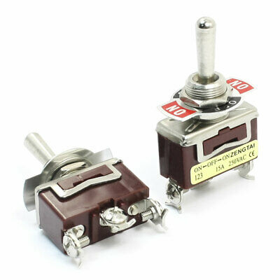 New AC 250V 15A ON//OFF//ON Momentary SPDT Toggle Switch with Waterproof Boo I3S2