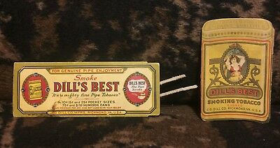 Vintage Antique Pair Of Dill's Best Tobacco Pipe Cleaner Packets - Early 1900s