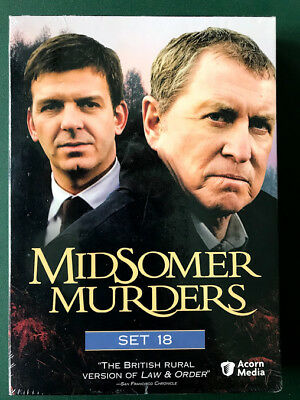 Midsomer Murders, Set 18, 3 DVDs, FACTORY SEALED, Ohio seller, FREE SHIPP, Mint