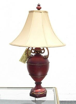 Beautiful Vintage Platinum Bay Hand Painted Gold Gilt Table Lamp