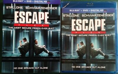 Escape Plan, Blu-ray + DVD, SLIPCOVER, FREE SHIPPING, SEALED, Stallone & Arnold