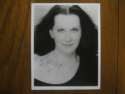 VERONICA  HAMEL (Hill  Street  Blues)  Signed  8 x 10  Black  and  White  Photo