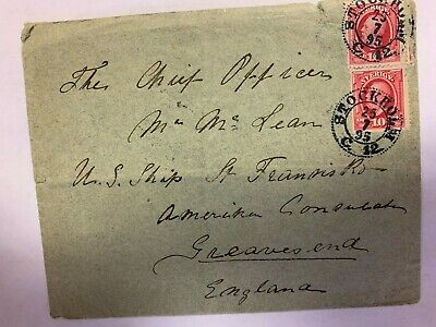 Sweden postal cover 1895 rare cover with nice old stamps