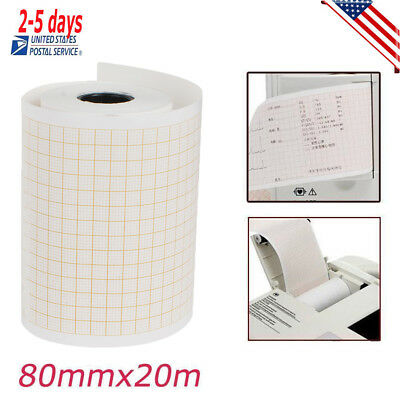 Thermal Printer paper for ECG EKG Machine Electrocardiograph 80MM*20M CE New