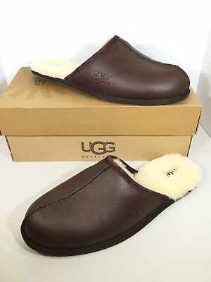 1096c1e069b UGG MENS SIZE 8 Chestnut Brown Scuff Deco Pendleton Slippers Warm ...