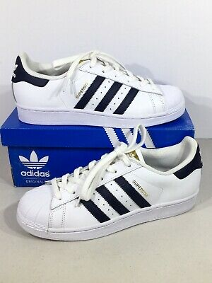 online store 44309 760e5 ADIDAS S81014 SUPERSTAR Foundation Junior Size 6 White/Blue Fashion Shoes  X19-31