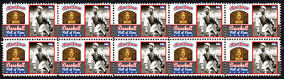 Ray Schalk Baseball Great Hall Of Fame Inductee Strip Of 10 Mint Stamps