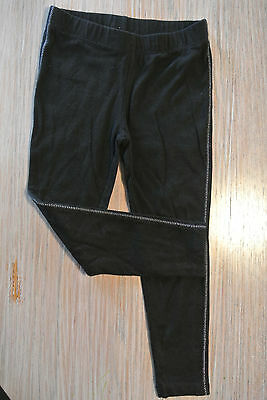 Faded Glory Girls Black Size 4 Edge Stitched Leggings