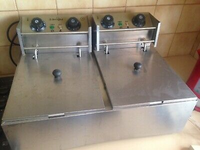 5 Star Chef CDF-D4C-DOUBLE Electric Twin Deep Fryer 2500W - Silver