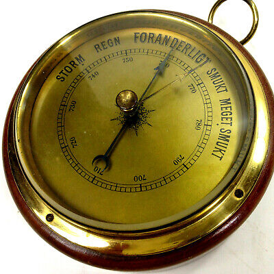Vintage SUFFT ROUND BAROMETER Weather Station Wall Hanging