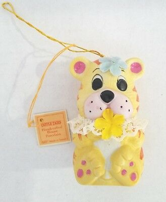 Tattle Tails Puppy Dog Bell Porcelain Christmas Tree Ornament Giftco Vintage