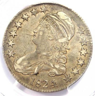 1824/4 Capped Bust Half Dollar 50C - PCGS XF Details (EF) - Rare Variety Coin!