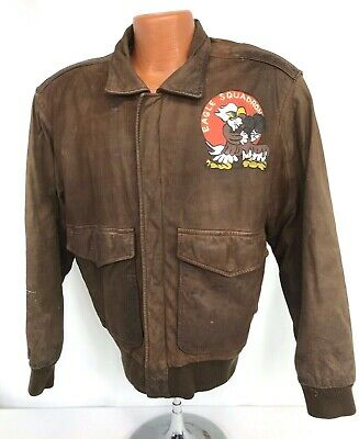 Reproduction Painted Leather Flight Jacket