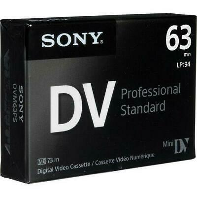 Sony DVM63PS Professional Mini DV Minidv Camcorder video 63min - 1 Tape