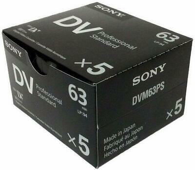 Sony DVM63PS Professional Mini DV Minidv Camcorder video 63min - Box of 5