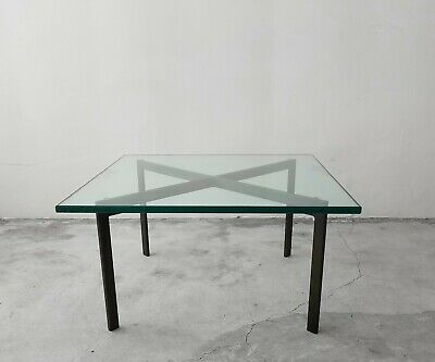RARE Mid Century Bronze Base Barcelona Table By Knoll