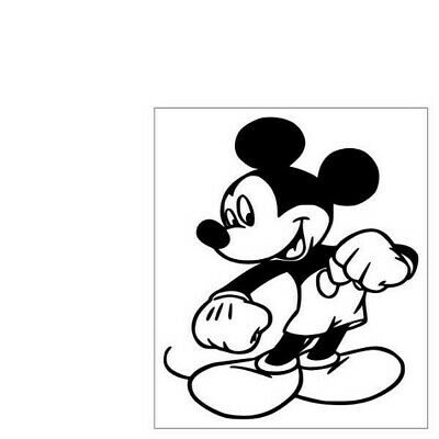 CARTOON MOUSE WITH PEACE SIGN  5 X 6 VINYL CAR TRUCK WINDOW DECAL STICKERS