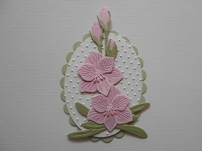 Die cuts - Embossed Hippeastrum - Assembled  Flowers Card Toppers Mats (2)
