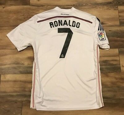 reputable site dfd60 76cc6 REAL MADRID CRISTIANO Ronaldo 7 Adidas Fly Emirates Soccer Futbol Jersey  Mens XL