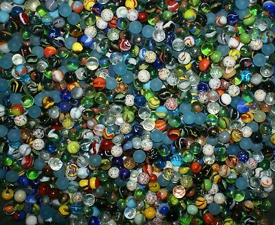 """250 5/8"""" Player Marbles Out of Production MIX of Mega Vacor, Marble King, Vitro,"""