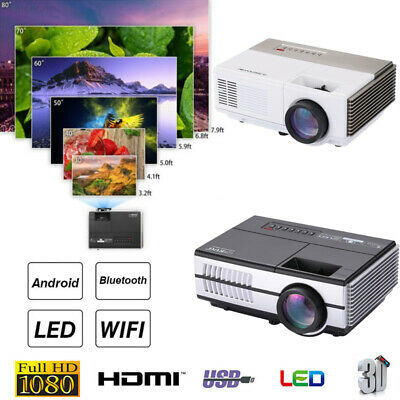 3CD6 High Performance LED Projector HD WiFi Projector Wireless 3D VGA LCD