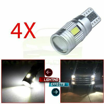 4x T10 CANBUS 5730 6 SMD LED ERROR FREE 194 168 T15 Car Side Wedge Light Bulb