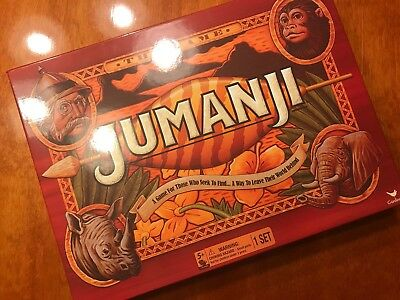 Jumanji Action Board Game 2017 Cardinal Edition Complete NEVER PLAYED SHIPS FAST