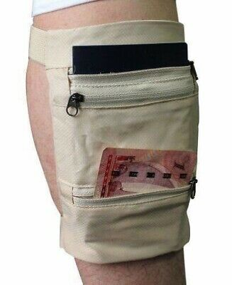 Travel Leg Money Belt Safe Card Money ID Passport  Wallet Hide Bag Security Men